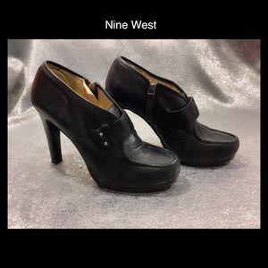 🖤Nine West Black Leather Booties 8.5 🖤
